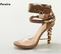 2018 Горячая распродажа! Лодыжки пряжки телесного цвета женские летние сандалии с открытым носком тонкий высокий каблук прозрачная обувь с м
