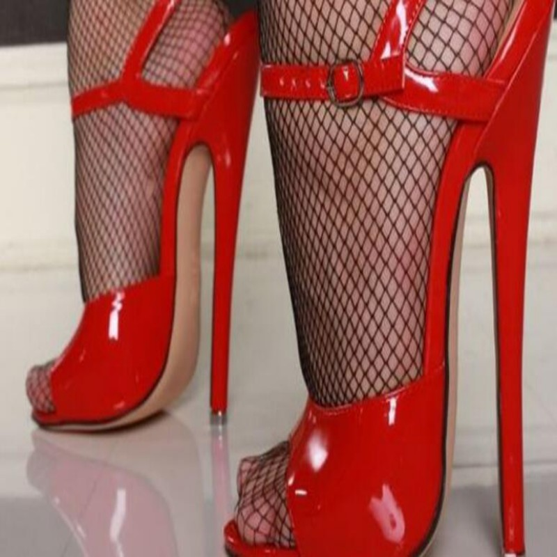 Sexy Ladies Summer Fashion Super High Heels Stiletto Slingback Shoes New Womens Open Toe Nightclub Sandals Plus Size free ship new 2017 spring summer women shoes pointed toe high quality brand fashion womens flats ladies plus size 41 sweet flock t179