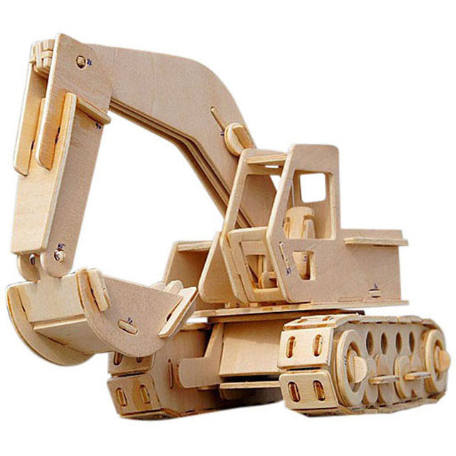 Wood Building Toys For Boys : Excavator wooden model building block boy toy gift in