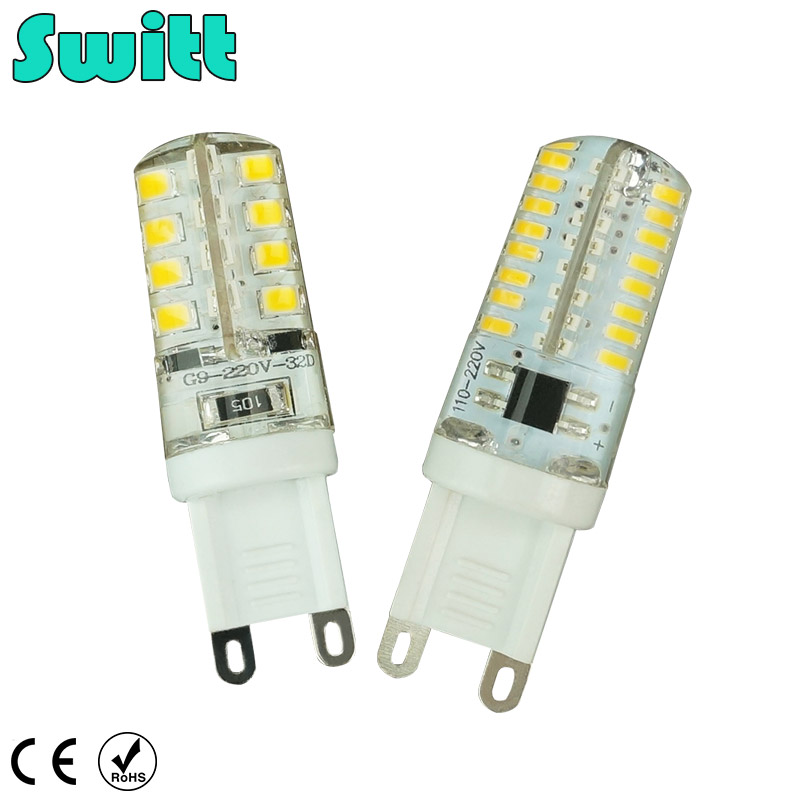 Switt G9 LED 220V 7W 9W 10W 11W Corn Bulb 360 degrees SMD3014 2835 g9 bulbs High Quality Chandelier Light Replace Halogen Lamp