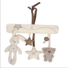2018 New Arrival Hot Sale Mamas and amp Papas Cot Hanging Toy Baby Rattle Toy Soft Plush Rabbit Musical Mobile Products