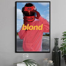 P110 Frank Ocean Hot Album Blonde Music Cover R & B Hip Hop Art Schilderen Zijde Canvas Poster Muur Thuis decor(China)