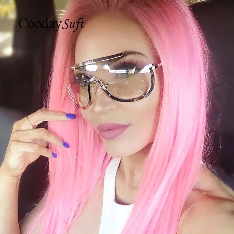 Steampunk Oversized Women Hip Hop Sunglasses Brand Designer UV400 2017 Big Size transparent lens Eyeglasses Sun Glasses Female