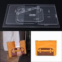1 компл. Кожа ремесло прозрачный акриловый клатч сумочка Шаблон трафарет набор инструментов DIY Kit