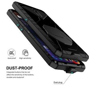 Image 4 - Para Oneplus 6 6 T Caso de Telefone Duro De Metal de Alumínio de Vidro Temperado Protetor de Tela 7 7Pro OnePlus Capa Heavy Duty proteção