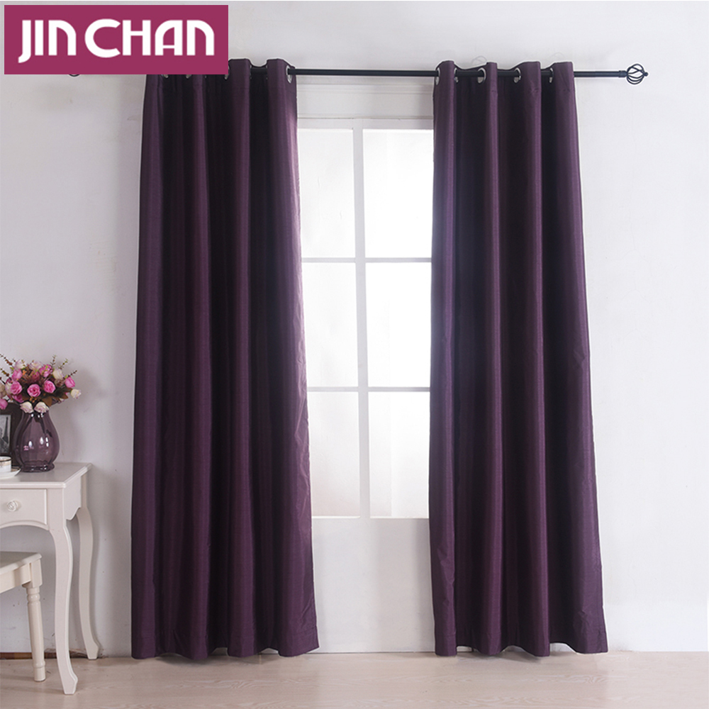 New Solid Polyester Ready Made Window Shade Blackout Curtains For
