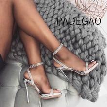 Frauen Sandalen 2019 Luxus Party Elegante Hochzeit High Heels Sandels Sexy Kristall Silber Frauen Schuhe