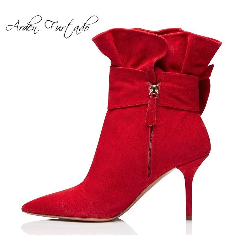 Bottes Pointu 2019 Blanc 12 Leather Bout Rouge D'hiver Zipper Cm De Lady red Stilettos Black Suede Femmes Talons Mode Chaussures Bureau Suede white wqfaCxA