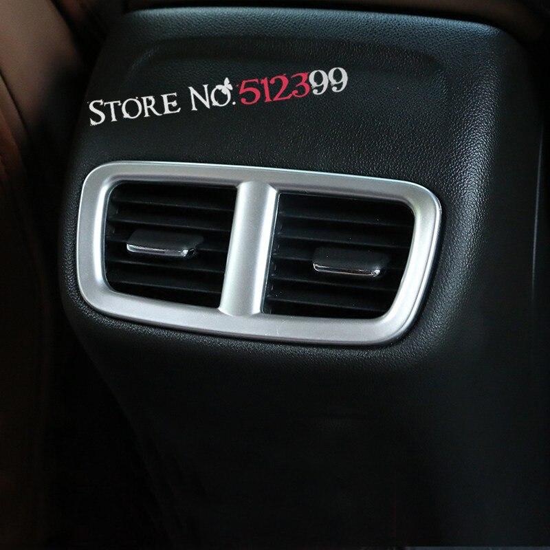 1 * Матовый Интерьер автомобиля задний вентиляционное отверстие Выход Обложка отделка для Opel/Holden ZB Commodore/Vauxhall Insignia 2017 2018
