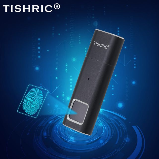 TISHRIC Fingerprint USB Flash Driver 16GB 32GB 64GB 128GB USB Flash Stick Memory Stick Pen Drive  Pendrive USB Key Disk On Key