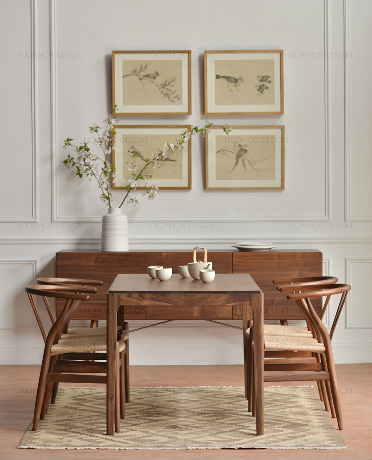 Attirant Nordic Expression / Classics / North American Black Walnut Furniture / Suo  Gena Six Bits Of Solid Wood Dining Table In Nail Tables From Furniture On  ...