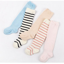 Cotton Striped Style Newborn Stockings For Spring And Summer Unisex Thin Section Tights Stocking Solid Color Kids 0-2Y