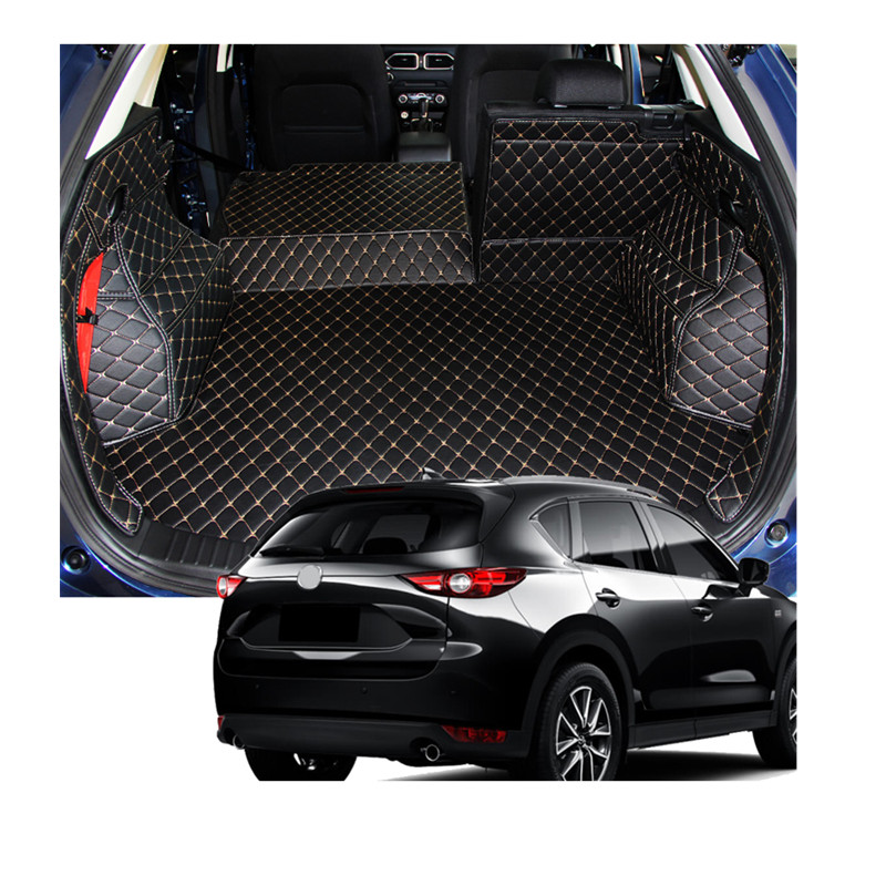 leather accessories interior rear boot cargo trunk mats pad 1set fit for mazda cx 5 cx5 2017. Black Bedroom Furniture Sets. Home Design Ideas
