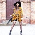 Jojo новое прибытие 2016 женщины моды Boho Люди Стиль Асимметричный Цветочный Принт повседневные платья sexy vintage с длинным рукавом платья