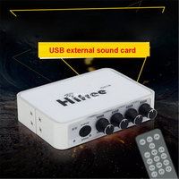 2017 Mini Externe Usb-soundkarte Kanal Audio Adapter Lautsprecher Mikrofon Kopfhörer Usb-schnittstelle für PC Computer HIFREE