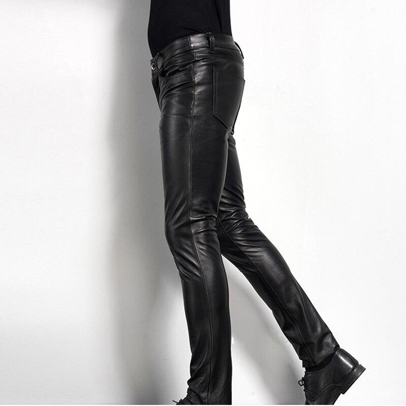 Для мужчин кожаные брюки байкерские Брюки для девочек мотоциклетные панк-рок Брюки для девочек Тесная готическая кожаные штаны пятно гладк...