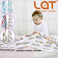 "Top Quality LAT Baby blanket&Swaddle bamboo/Cotton One Layer Two 47""x 47"" Pre-washed Multifunctional Towel Infant Blanket"