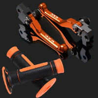 For ktm EXC 125 200EXC 125 EXC 500 400 450 300 250 Motorcycle Dirt Bike Pivot Brake Clutch Levers+Handle Grips