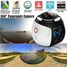 360 de la Cámara Full HD 1080 P 16MP Cámara Panorámica Construido en WI-FI 3D Se Divierte La Cámara Impermeable 30 m Conducir VR Cámara de Acción Cámara De Vídeo