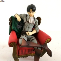 NEW hot 15cm Attack on Titan Levi Rivaille Rival Ackerman sofa action figure toys collection doll Christmas gift
