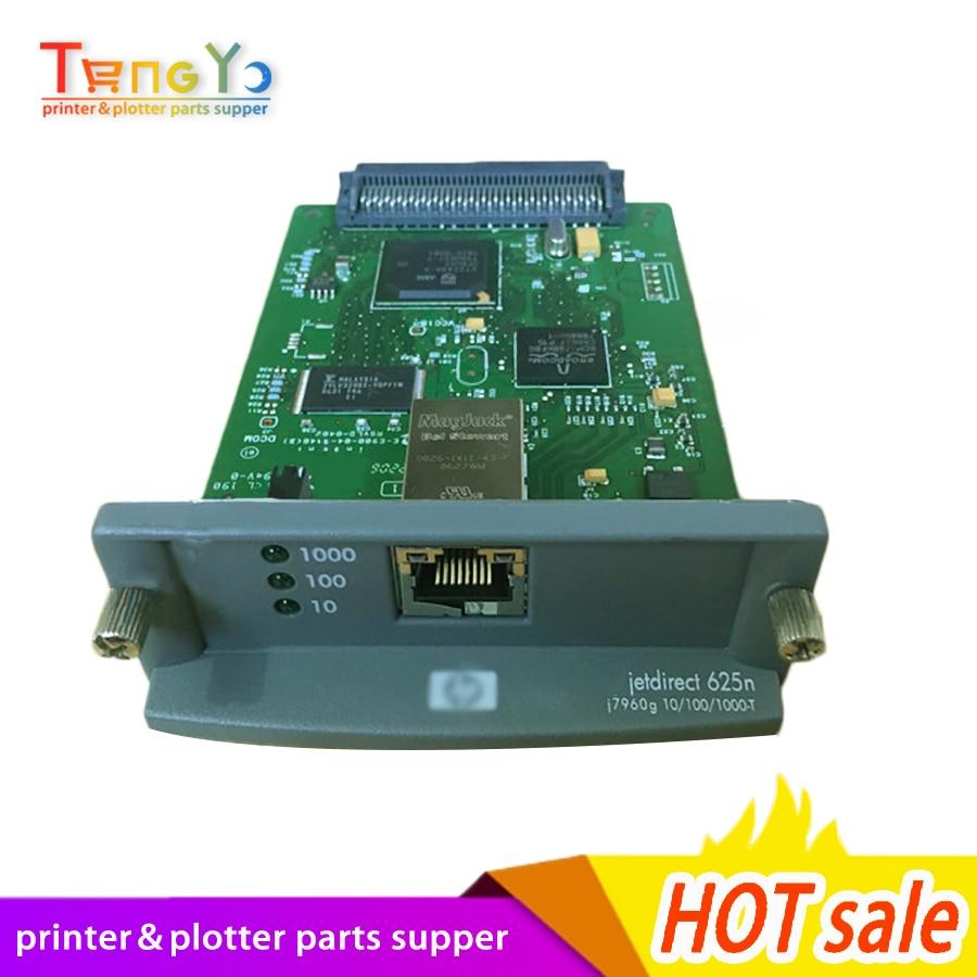Livraison gratuite 100% original JetDirect 625N J7960G Ethernet serveur d'impression interne carte réseau et imprimante traceur DesignJet