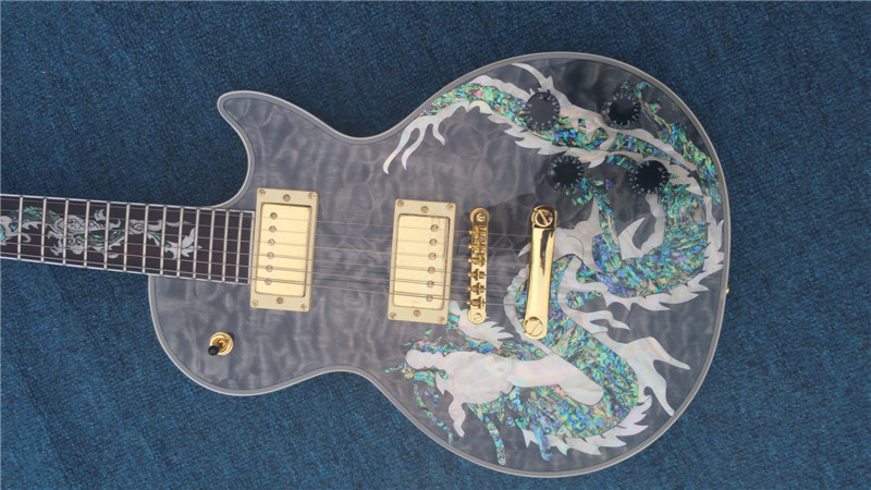 цена на Leader of sales, wholesale of high quality Dragon figure Top G Custom Guitars and electric guitar for Free shipping