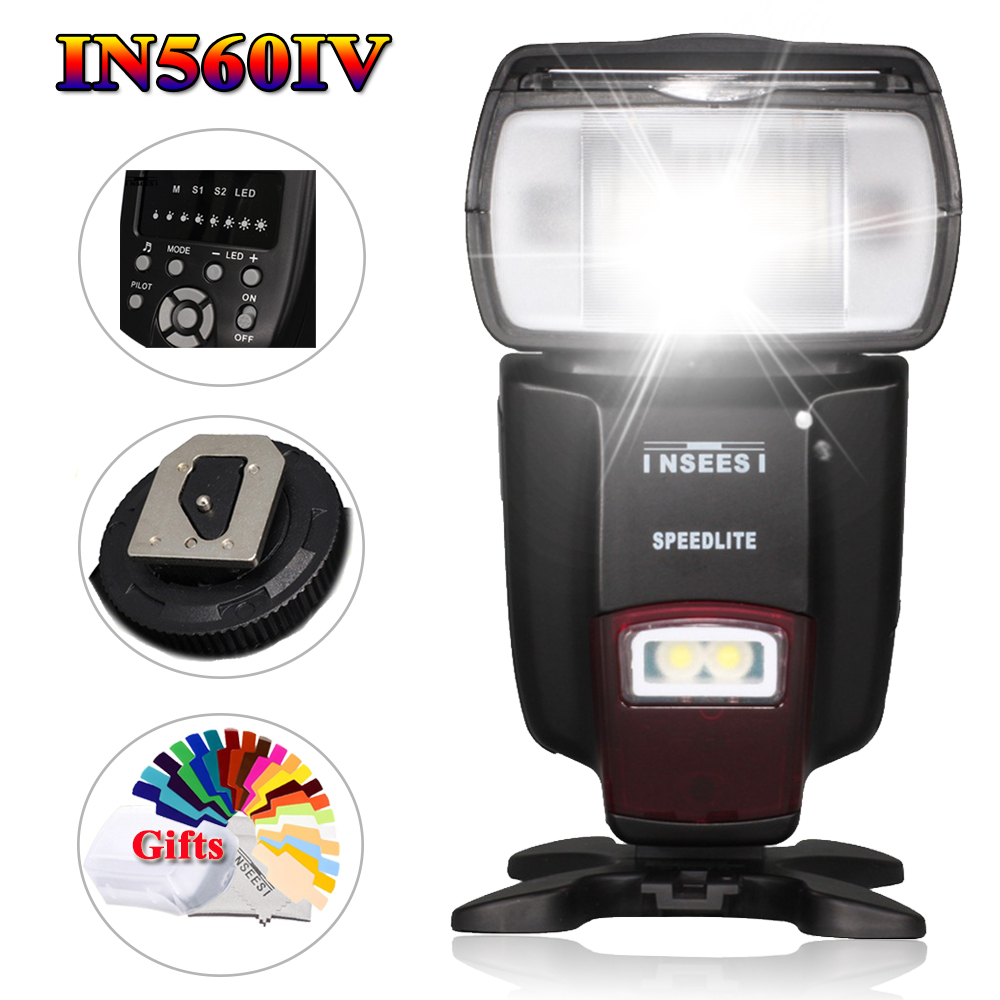Universal Wireless Flash Speedlite INSEESI IN560IV For Canon Nikon Pentax Panasonic Olympus Sony VS Viltrox JY