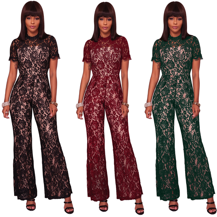 Body Cotton Hot Sale Plus Size Jumpsuits And Rompers For Women Elegant Jumpsuit 2018 New Winter Short Sleeved Jumpsuit.