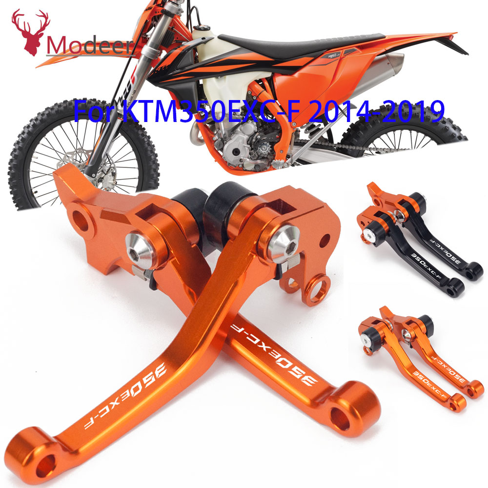 CNC Motorcycle DirtBike Motocross Pivot Brake Clutch Levers For <font><b>KTM</b></font> 350EXC-F <font><b>350</b></font> EXC-F <font><b>2014</b></font> 2015 2016 2017 2018 2019-2020 image