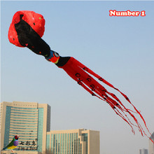 Free Shipping Outdoor Fun Sports  2015 NEW High Quality 10m Power Squid Software Kite Ripstop Nylon Fabric Good  Flying