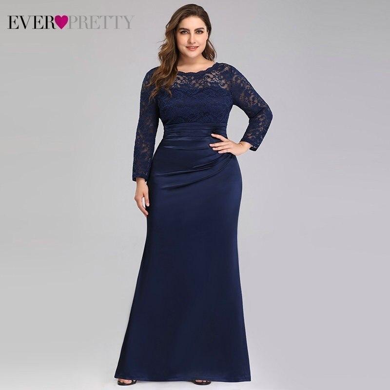 Большие размеры, вечерние платья, длинные, красивые, элегантные, кружевные, с длинными рукавами, вечерние платья русалки, Robe De Soiree Rouge, EP07584NB