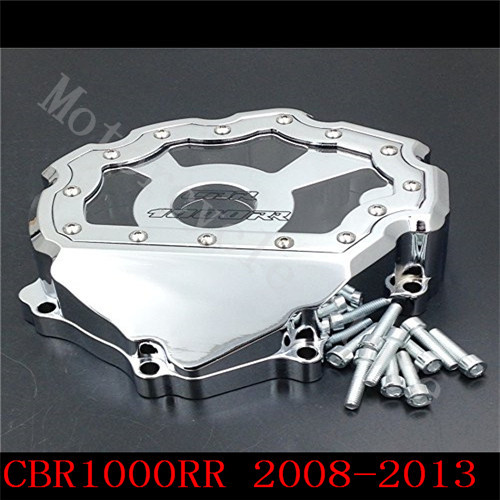Fit for Honda CBR1000RR CBR1000 2008 2009 2010 2011 2012 2013 2014 Motorcycle Engine Stator cover see through Chrome Lefe side kemimoto cbr 1000rr aluminum radiator grills guard cover grille for honda cbr1000rr 2008 2009 2010 2011 2012 2013 2014