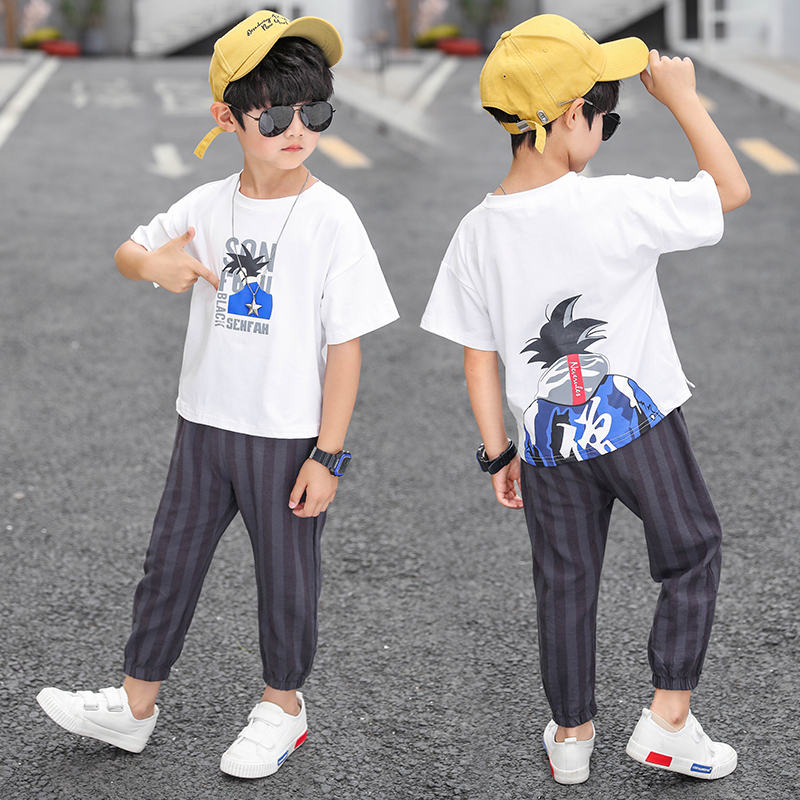 Feiluo 2019 Baby Boys Summer Clothes Fashion Cotton Set Boys squirrel print T Shirt Short pants set kids Clothing 6 9 Y LM 001 in Clothing Sets from Mother Kids