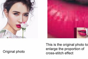 Image 5 - QIANZEHUI,Make your own 3D DIY Cross Stitch 100% Cotton full  Cross Stitch Embroidery diy personal picture Photos Custom