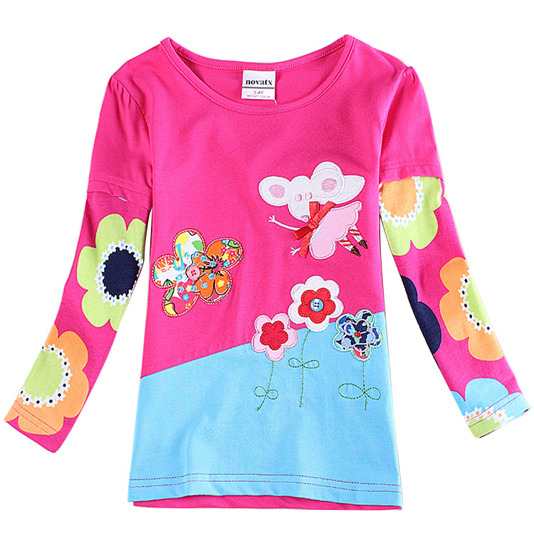 2 6t Rose Red T Shirts For Girls Brand Girl T Shirt Kids T