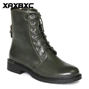 XAXBXC/Кожаные броги в ретро-стиле в английском стиле; Женские ботинки-оксфорды зеленого цвета с металлической пряжкой и закругленным носком р...