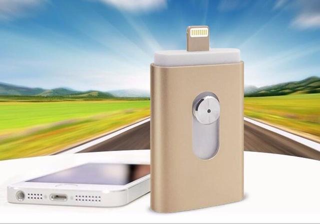 Usb 3.0 flash drive para iphone 7/7 plus/6/6 s plus/5S/5/5c/ipad pen drive hd otg memory stick micro móvil pendrive 16/32/64/128 gb