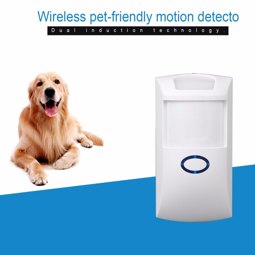 Wireless 433MHZ  Home Security Pet Immune Motion PIR Sensor Infrared Detector For Alarm System 433mhz alarm accessory wireless pet friendly pir sensor outdoor pet immune infrared motion detector for home wifi gsm alarm g90b