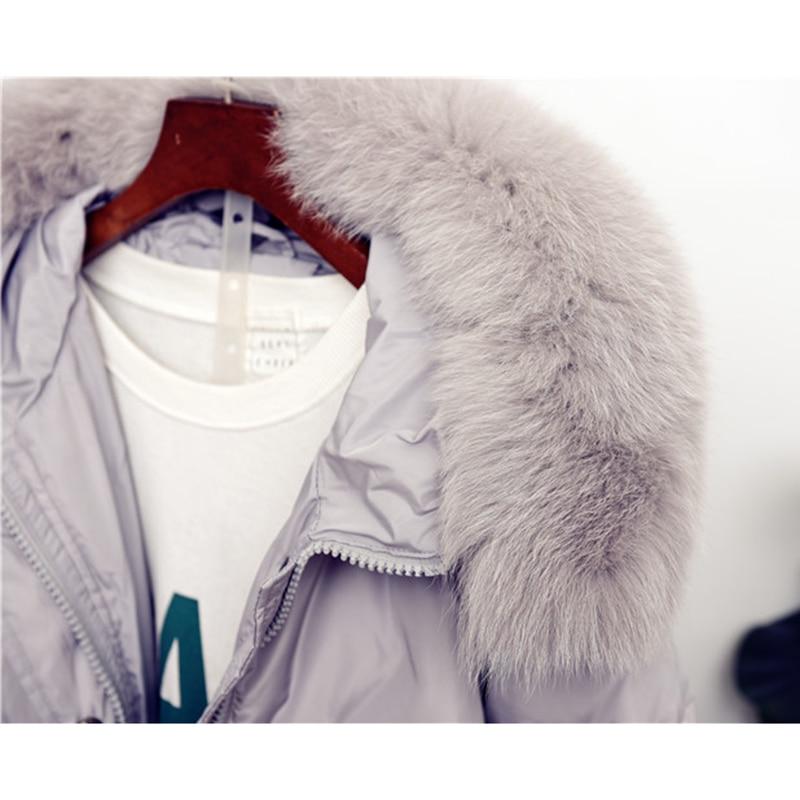 Manteau Hiver D'hiver Vers Blanc Col Le Arrivée Nouvelle Veste gris Épaississent Canard Manteaux Noir Femmes Bas Fourrure De 2018 Femme Duvet 6YaqZq