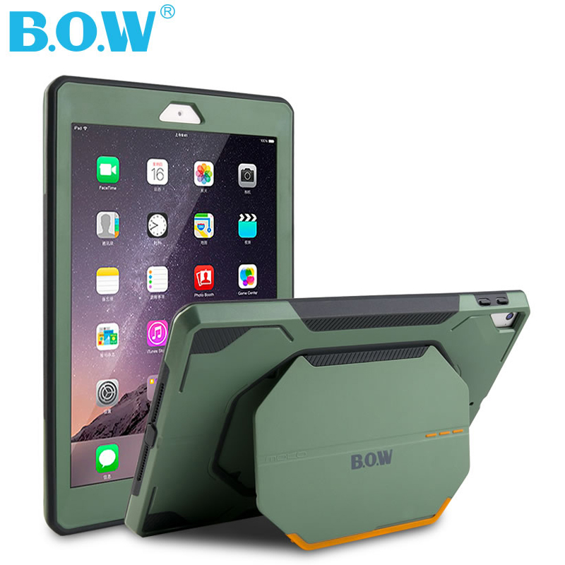 B.O.W Hard Case for NEW IPAD 9.7 Inch Shockproof Heavy Duty Military Rubber Cover protection from scratches, bumps, dirt, drops for amazon 2017 new kindle fire hd 8 armor shockproof hybrid heavy duty protective stand cover case for kindle fire hd8 2017