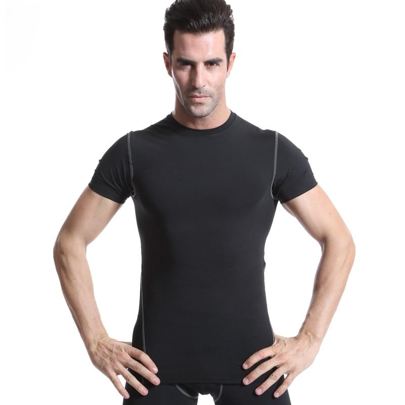 Men Shirt Quick Dry Compression Mens Short Sleeve T-Shirts Running Shirt Fitness Tight Tennis Soccer Jersey Gym Demix Sportswea