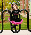 Fashion Girls baby tutu pettiskirt princess black rose skirts FREE SHIPPING