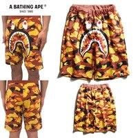 AAPE By a bathing ape Шорты акул японский trend Стиль orange пляжные шорты AAPE By a bathing ape