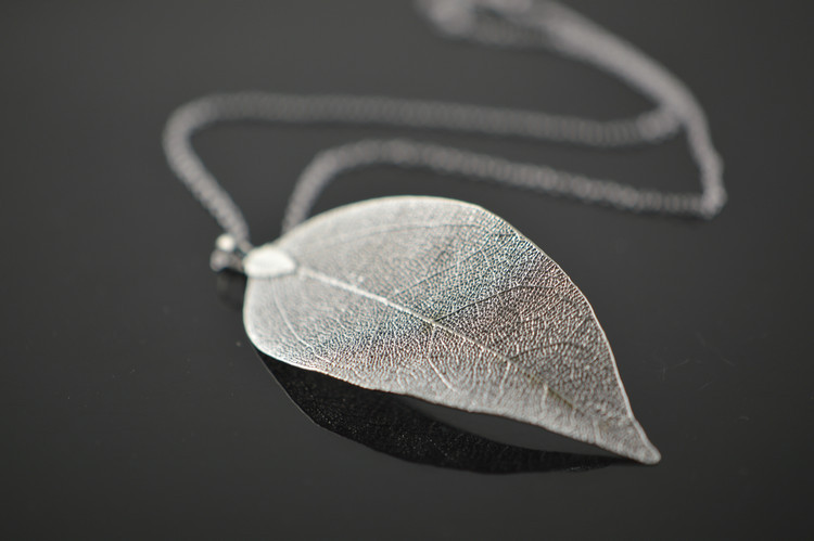 10pcs unique real leaver with silver plated pendant necklace 16 dsc5002 mozeypictures Choice Image