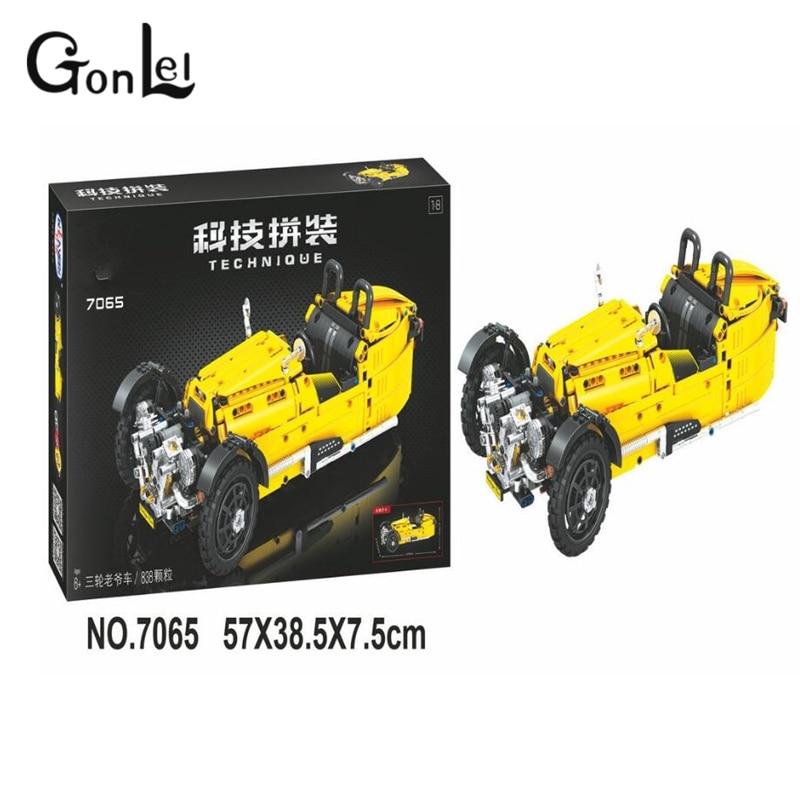 GonLeI 7065 838pcs Technic classic cars building bricks blocks toys for children Boy Game compatible Legoingly