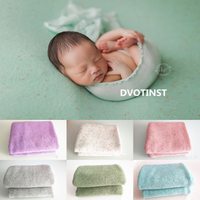 Dvotinst 新生児の写真の小道具ソフトかぎ針 backgound balnket 背景マットスタジオ撮影 fotografia アクセサリー写真の小道具