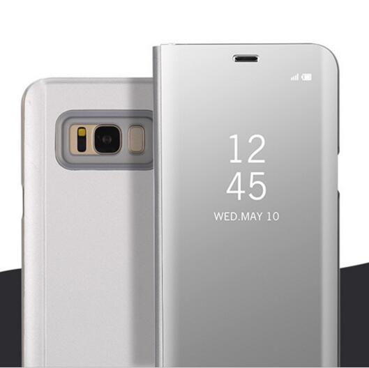 FGHGF S8 Plus Original Chip Case Mirror Smart Cases for Galaxy Samsung S8 Plus Auto Sleep Flip Clear Cover S8plus Smart Case S8