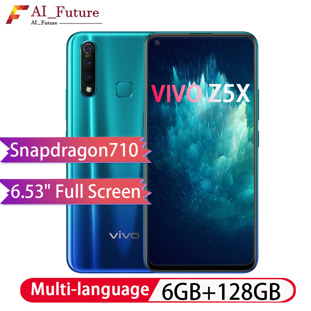 Global ROM Original VIVO Z5x 6GB 128GB Snapdragon710 Octa Core Android9 Smartphone 5000mAh Big Battery Face