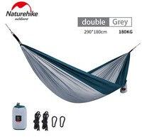 Naturehike Camping Hammock Ultralight Portable Outdoor Leisure Hammock 1/2 People Hanging Sleeping Bed