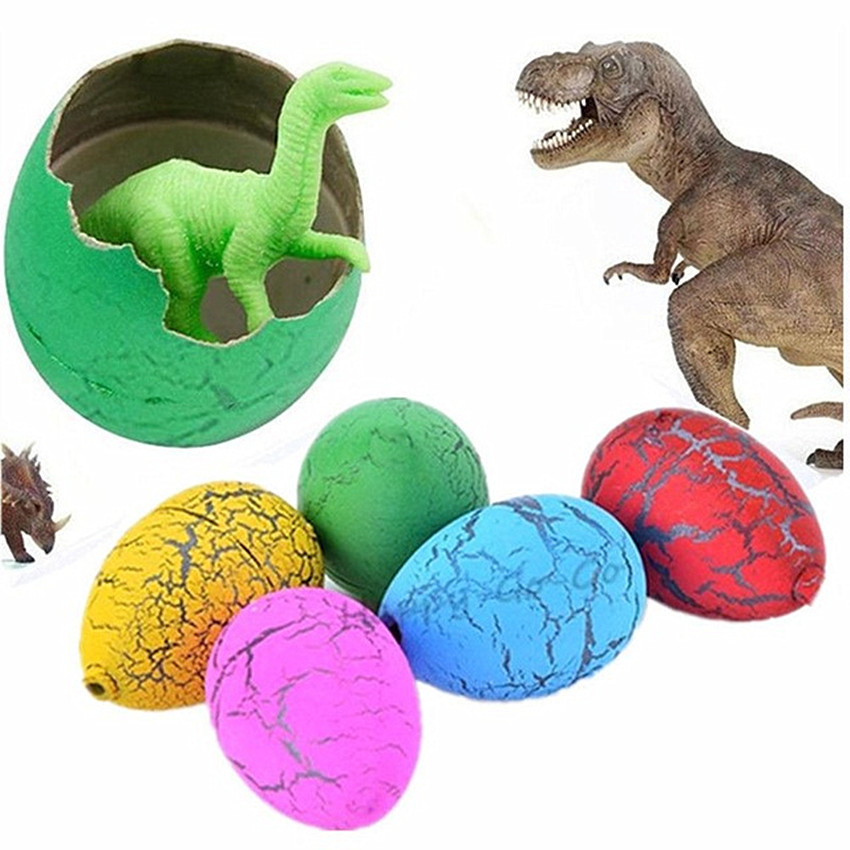 Купить с кэшбэком 10 Pcs/Set Magic Hatching Growing Dinosaur Eggs Water Grow For Children Toys Gift 3X2cm happy Easter Eggs